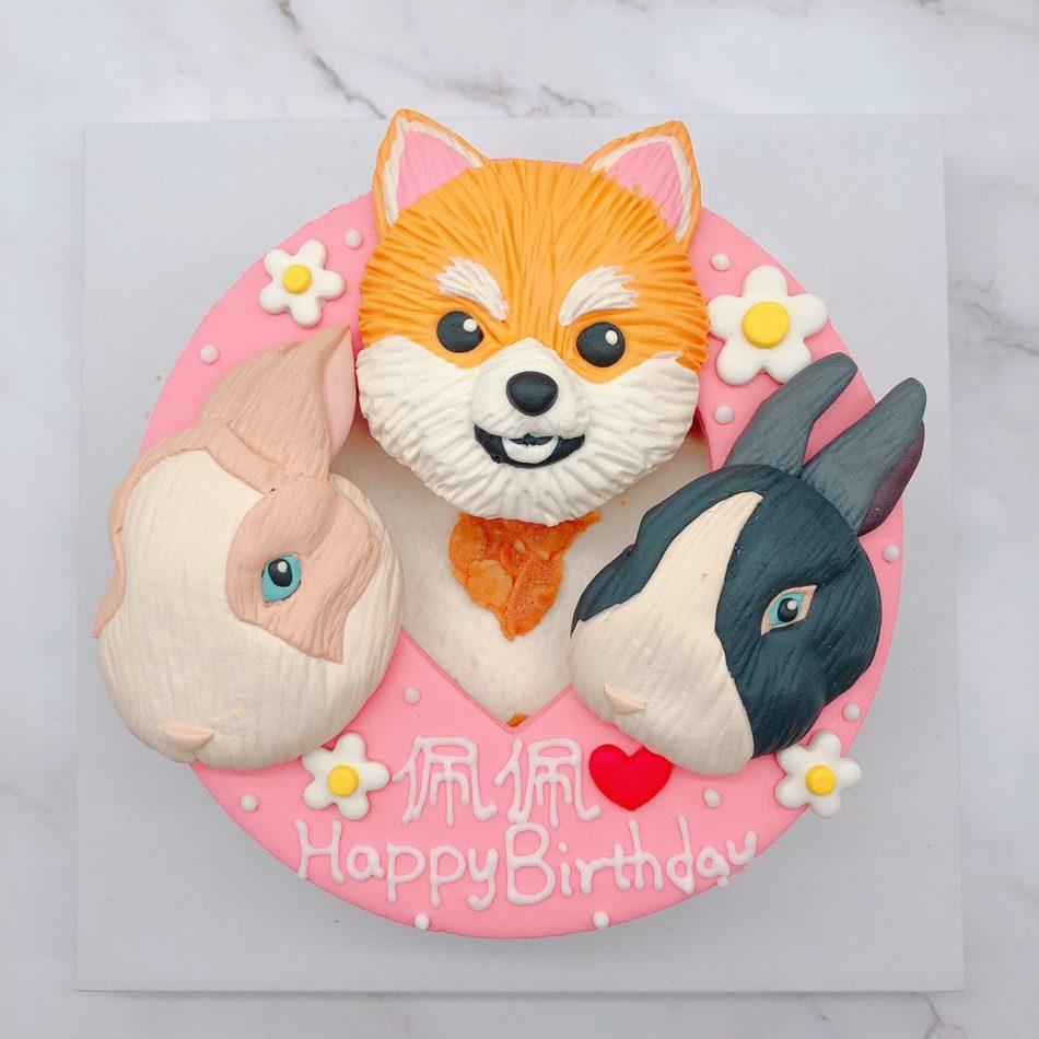 超可愛柴犬造型蛋糕,兔子生日蛋糕宅配