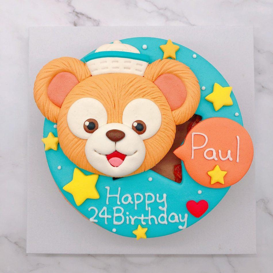 台北達菲熊生日蛋糕推薦,Duffy造型蛋糕宅配訂購