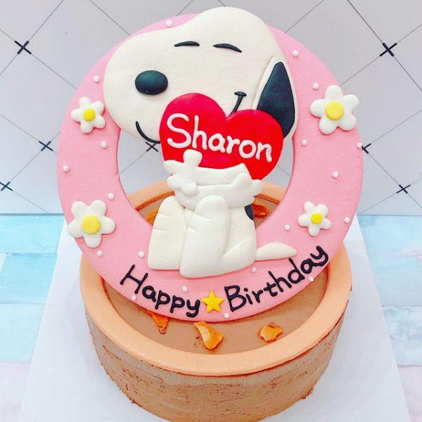 台北客製化生日蛋糕推薦,史奴比的造型蛋糕