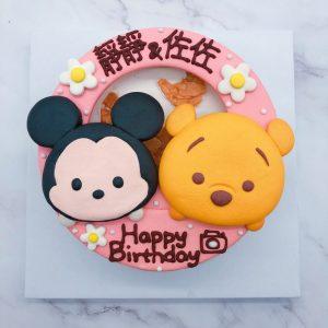 小熊維尼造型蛋糕推薦,TSUM TSUM米奇生日蛋糕作品分享