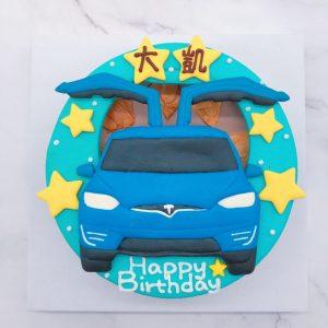 特斯拉客製化生日蛋糕推薦,Tesla汽車造型蛋糕登場