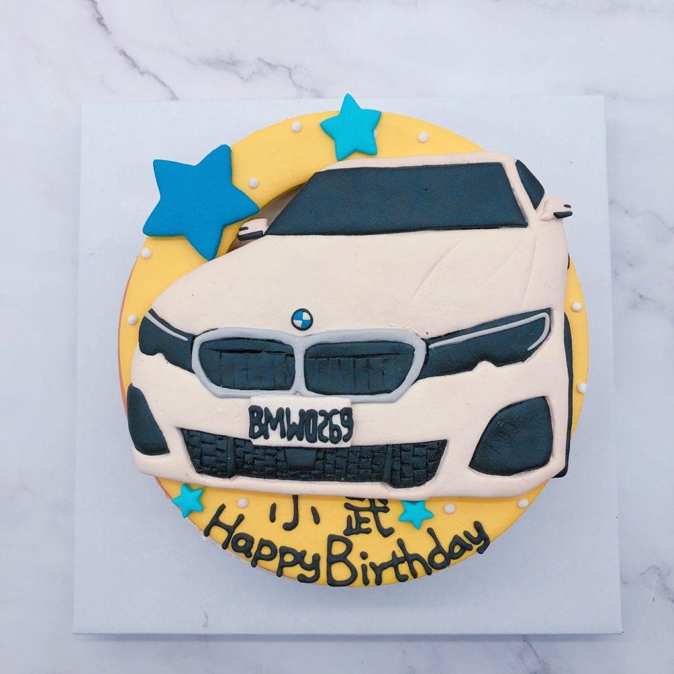 BMW車子生日蛋糕,寶馬汽車客製化造型宅配