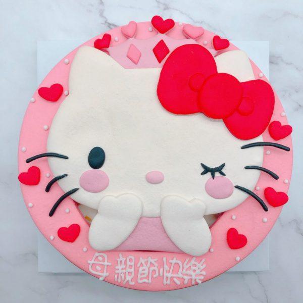 凱蒂貓Hello Kitty造型蛋糕作品