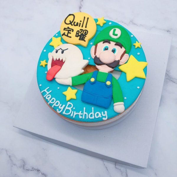 瑪莉歐生日蛋糕推薦,路易吉造型造型蛋糕宅配