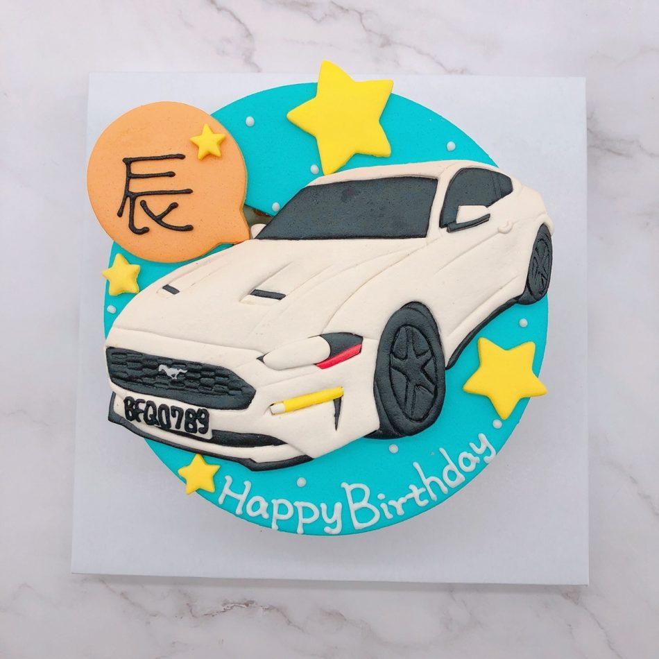 ford車子生日蛋糕,福特野馬汽車造型蛋糕宅配