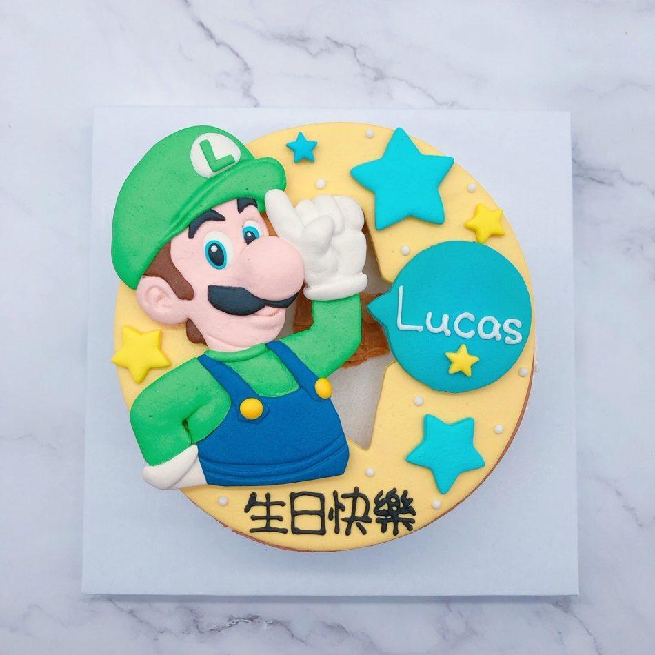 路易吉造型蛋糕推薦,瑪莉歐生日蛋糕宅配