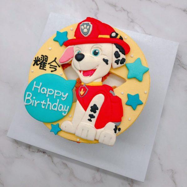 汪汪隊毛毛造型蛋糕推薦,卡通生日蛋糕宅配訂購