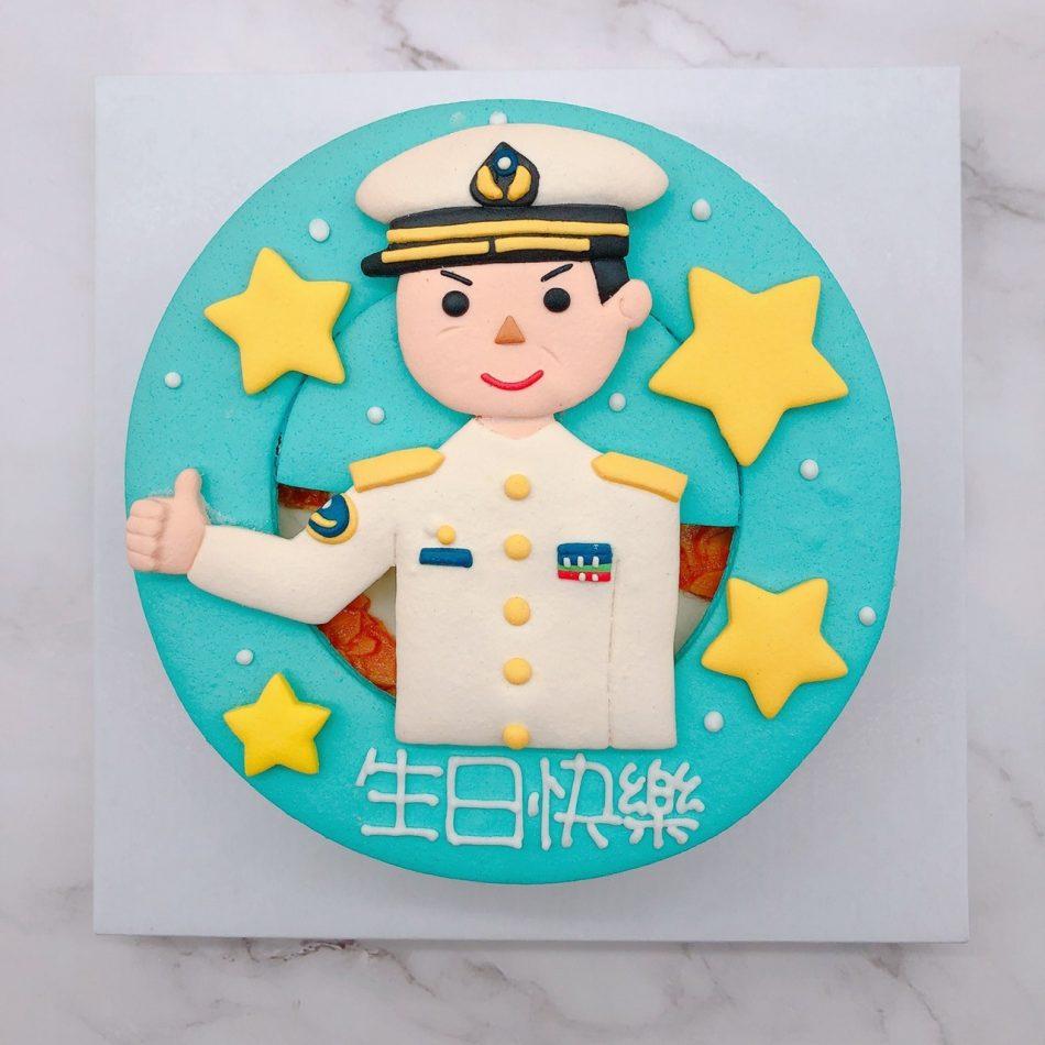 海軍造型蛋糕推薦,軍人生日蛋糕宅配訂購