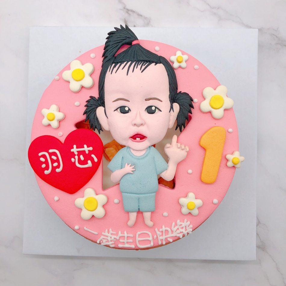 寶寶人像造型蛋糕推薦,台北週歲生日蛋糕宅配訂購