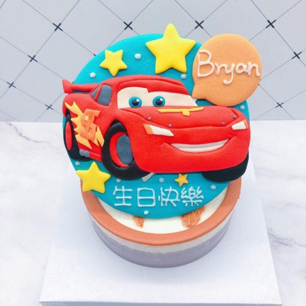 閃電麥坤造型蛋糕推薦,汽車生日蛋糕宅配