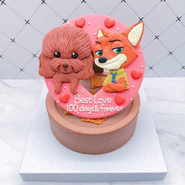 貴賓狗造型蛋糕推薦,狐狸生日蛋糕宅配分享