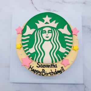 星巴克生日蛋糕手作,客製化造型蛋糕作品分享