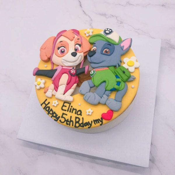 汪汪隊立大功天天造型蛋糕,灰灰卡通生日蛋糕宅配