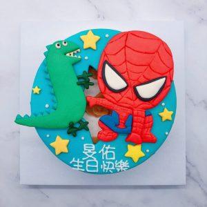 蜘蛛人造型蛋糕推薦,恐龍生日蛋糕宅配訂購
