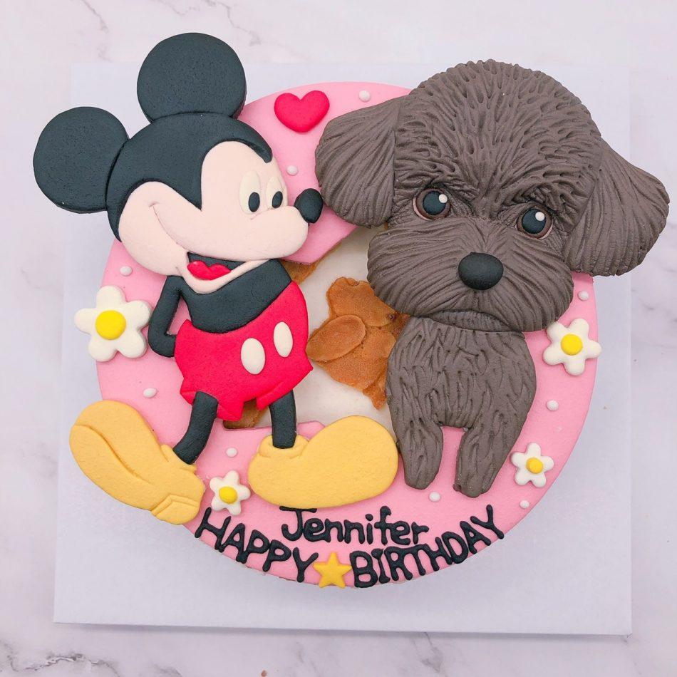 米奇卡通生日蛋糕推薦,貴賓狗客製化造型蛋糕
