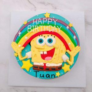 海綿寶寶生日蛋糕推薦,卡通造型蛋糕宅配訂購