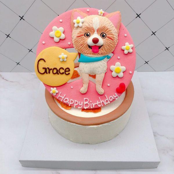 超可愛狗狗生日蛋糕推薦,台北寵物造型蛋糕宅配