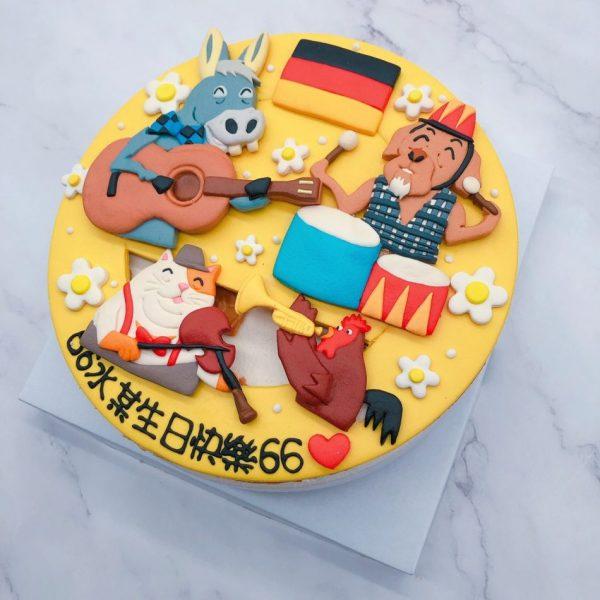 不來梅的城市樂手造型蛋糕,生日蛋糕宅配訂購