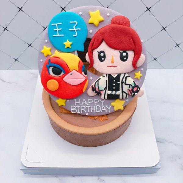 動物森友會火鳥造型蛋糕推薦,Q版人物生日蛋糕宅配