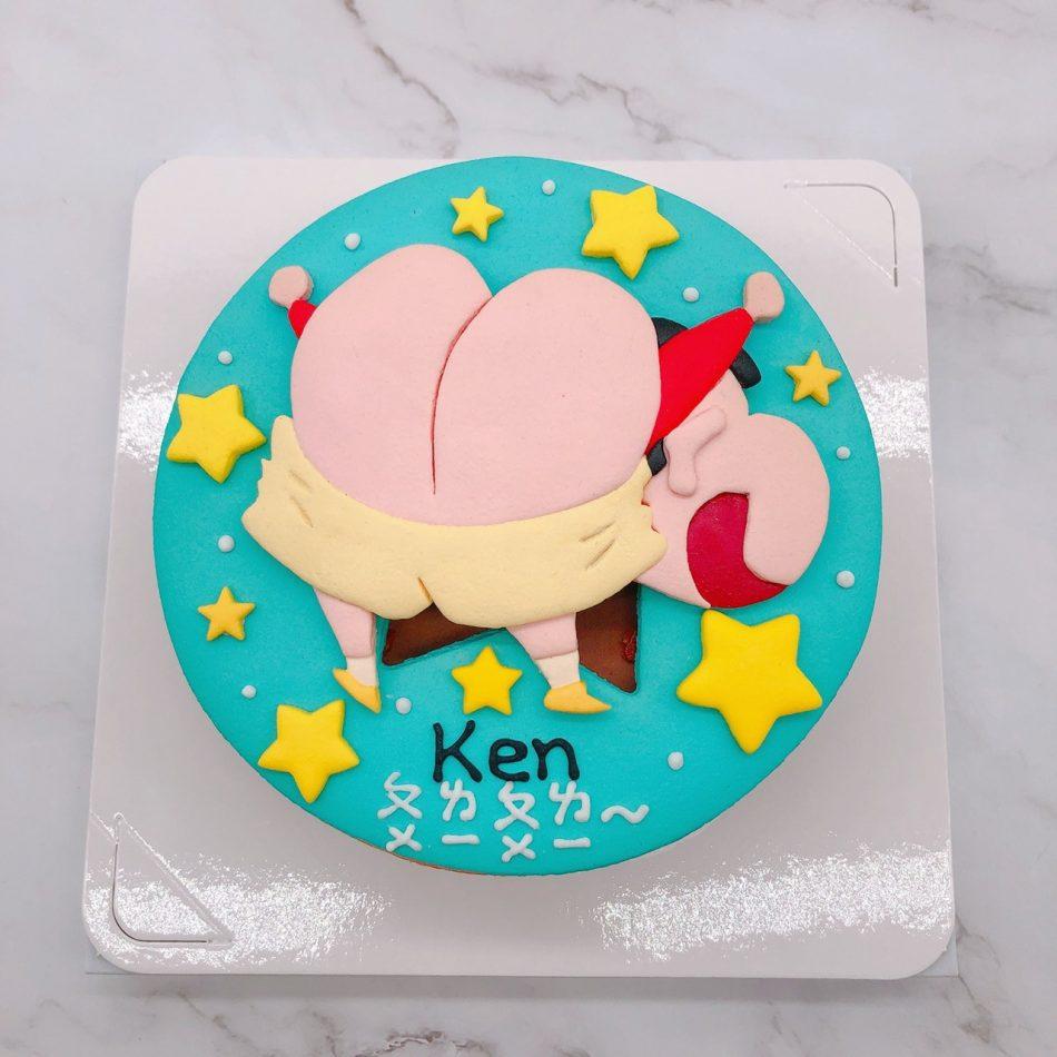 蠟筆小新造型蛋糕推薦,小新露屁屁卡通生日蛋糕宅配