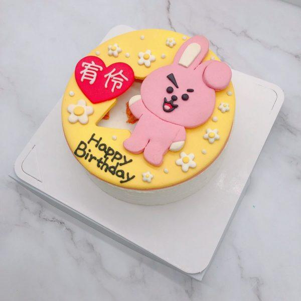BT21生日蛋糕推薦,COOKY客製化造型蛋糕宅配