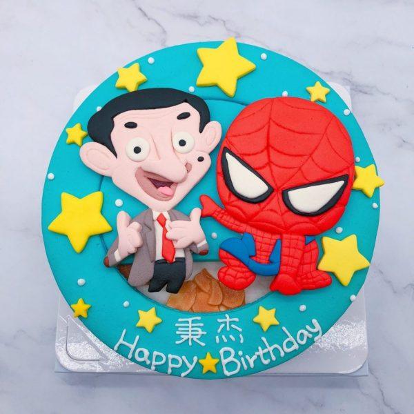 蜘蛛人生日蛋糕推薦,豆豆先生造型蛋糕宅配