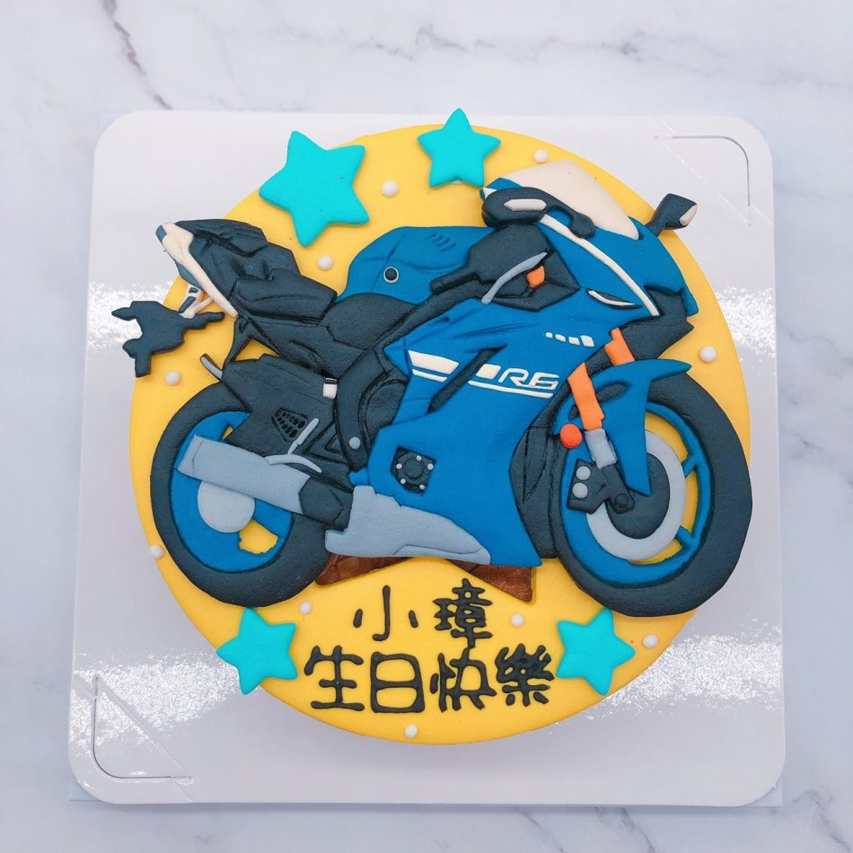 YAMAHA重機生日蛋糕推薦,R6機車造型蛋糕宅配