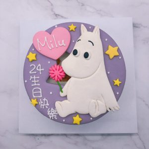 嚕嚕米造型蛋糕推薦,Moomin卡通生日蛋糕宅配