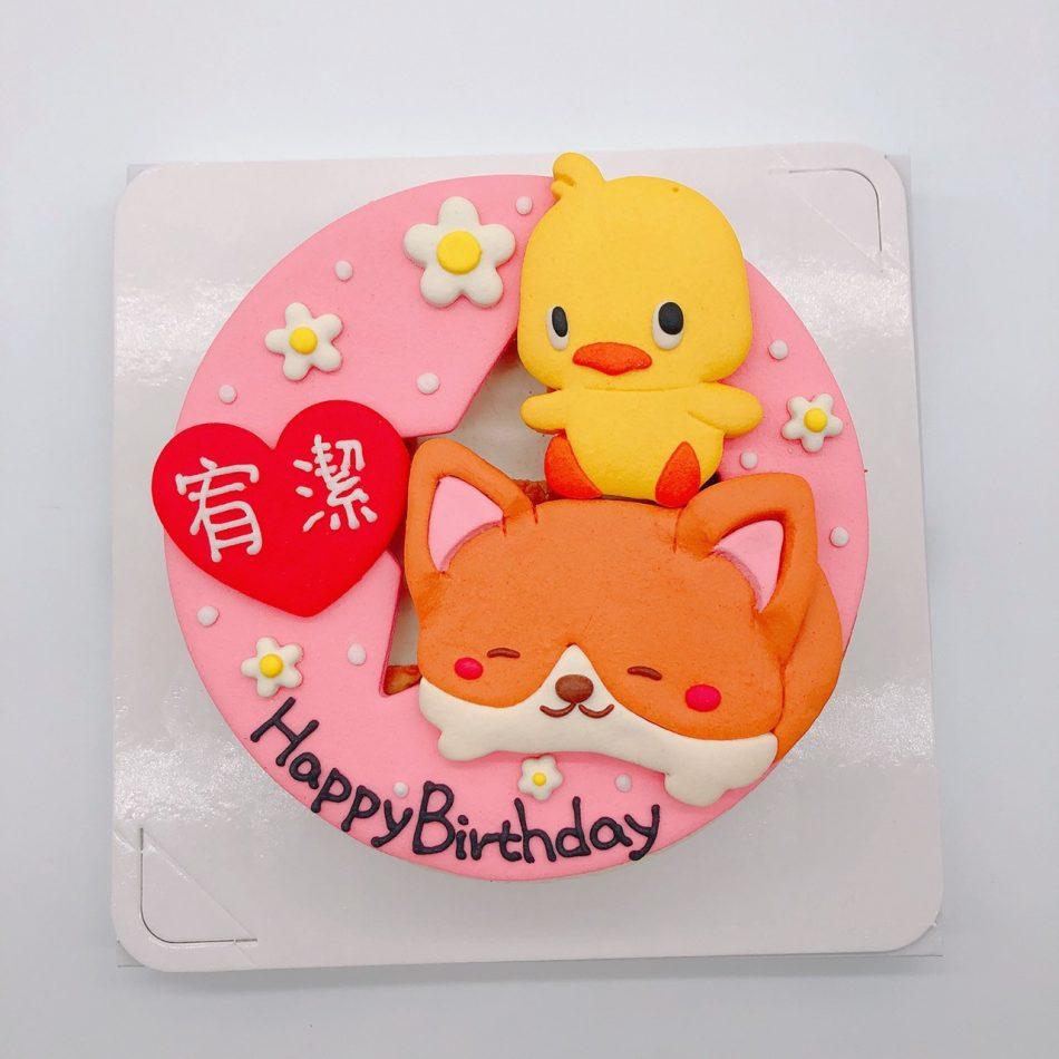 台北Q版小狗生日蛋糕推薦,小雞造型蛋糕宅配