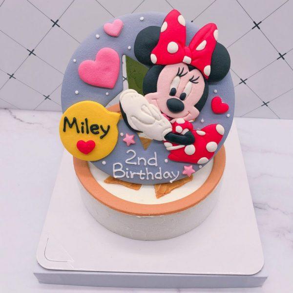 米妮生日蛋糕推薦,迪士尼造型蛋糕作品分享