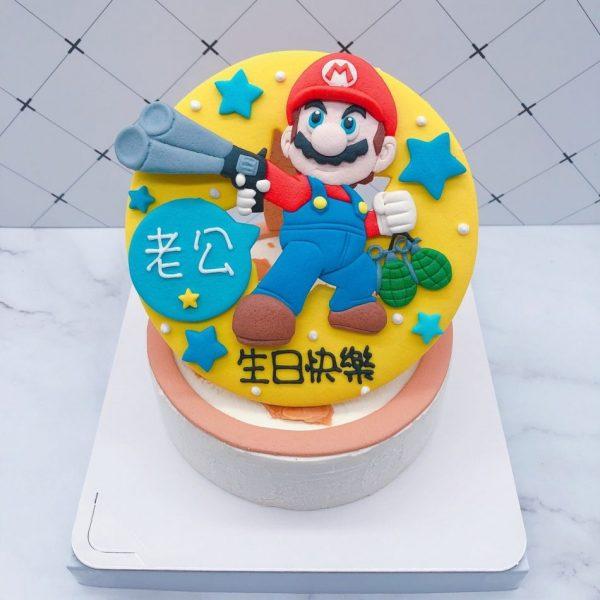 瑪莉歐生日蛋糕推薦,馬力歐造型客製化蛋糕作品分享