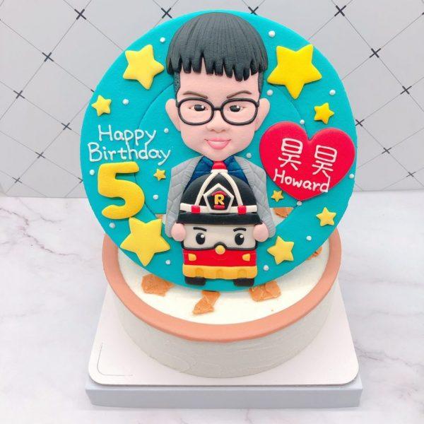 小孩人像造型蛋糕推薦,羅伊生日蛋糕宅配訂購