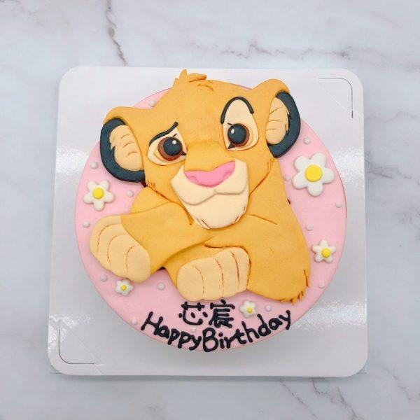 獅子王造型蛋糕推薦,辛巴生日蛋糕手作分享