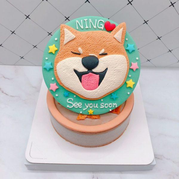 Q版柴犬生日蛋糕推薦,寵物造型蛋糕宅配訂購