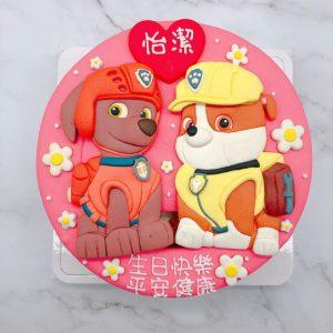 汪汪隊立大功小礫造型蛋糕,路馬卡通生日蛋糕宅配