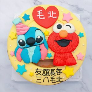 史迪奇造型蛋糕推薦,芝麻街ELMO生日蛋糕宅配