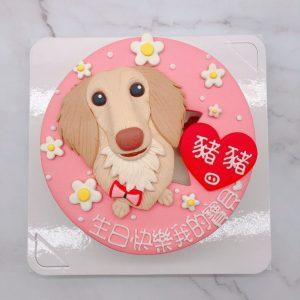 臘腸狗造型蛋糕推薦,台北寵物生日蛋糕宅配