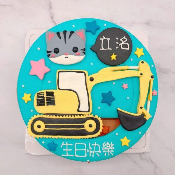 台北貓咪生日蛋糕推薦,挖土機造型蛋糕宅配