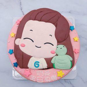 台北客製化造型蛋糕宅配,Q版人像生日蛋糕推薦分享