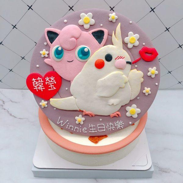 寶可夢胖丁造型蛋糕,小鳥卡通生日蛋糕推薦