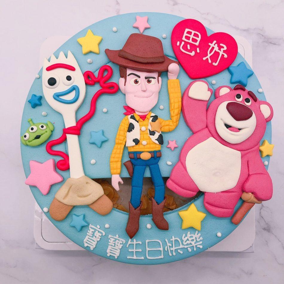 玩具總動員叉奇造型蛋糕推薦,胡迪 / 熊抱哥生日蛋糕宅配
