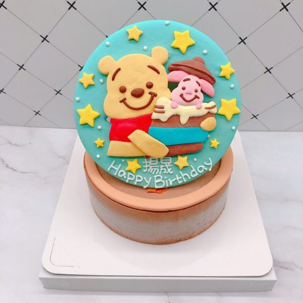 小熊維尼造型蛋糕推薦,小豬生日蛋糕宅配