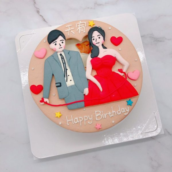 Q版人像造型蛋糕推薦,婚禮蛋糕生作品分享