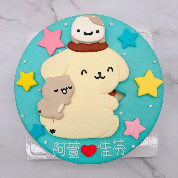 布丁狗造型蛋糕手作推薦,客製化生日蛋糕作品分享