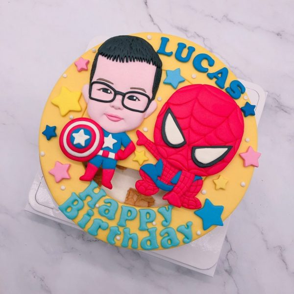 蜘蛛人生日蛋糕推薦,小朋友人像造型蛋糕宅配