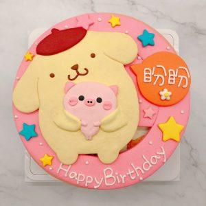 布丁狗造型蛋糕手作推薦,粉紅小豬生日蛋糕作品分享
