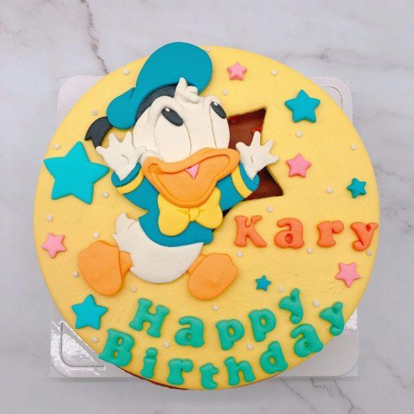 唐老鴨生日蛋糕推薦,卡通造型蛋糕宅配