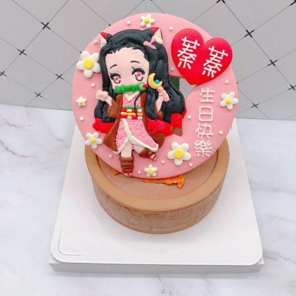 禰豆子造型蛋糕推薦,鬼滅之刃生日蛋糕宅配