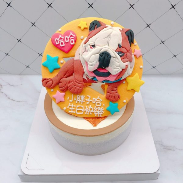 英國鬥牛犬造型蛋糕,寵物客製化蛋糕推薦