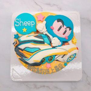 有玩跑跑卡丁車的朋友,千萬別錯過這款藍寶造型蛋糕囉啦~